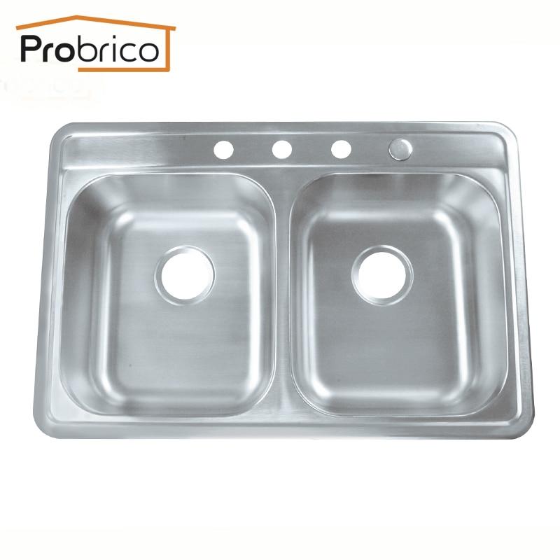 Top Mount Stainless Steel Kitchen Sinks compare prices on stainless steel topmount kitchen sink- online