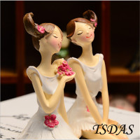 2pcs/set Beautiful Girl & Angel Creative Resin Doll Ornaments Europe Style Fairy Figurines Wedding Home Decoration