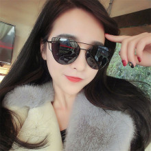 2018 Fashion Oval Flat Top Mirror Sunglasses Women Men Fashion Luxury Brand Designer Female Oversized Sun Glasses UV400