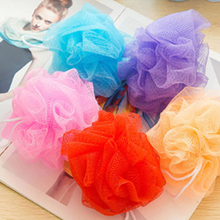 1 PC Body Bath Flower Ball Sponge Shower Soft Bubbles Foaming Mesh Loofah Cleaning Wash Colorful