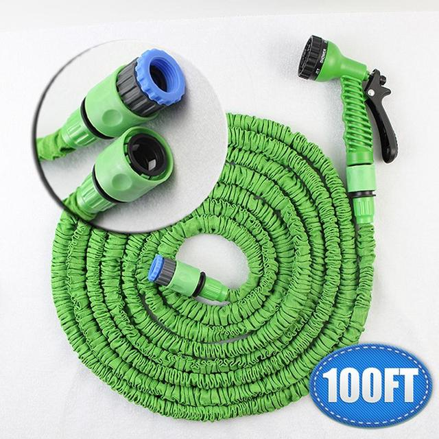 Attirant 100 FT Flexible Garden Hose Expandable Watering Hose For Irrigation Soft  Garden Hose Stretch Hose Weapon