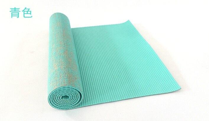 5mm pvc linho tapete de yoga tapete
