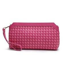 2016 hot Genuine Leather women Mini messenger bags evening clutch bags Casual Flap Shoulder bags Clutch Wallet Purse weave sost