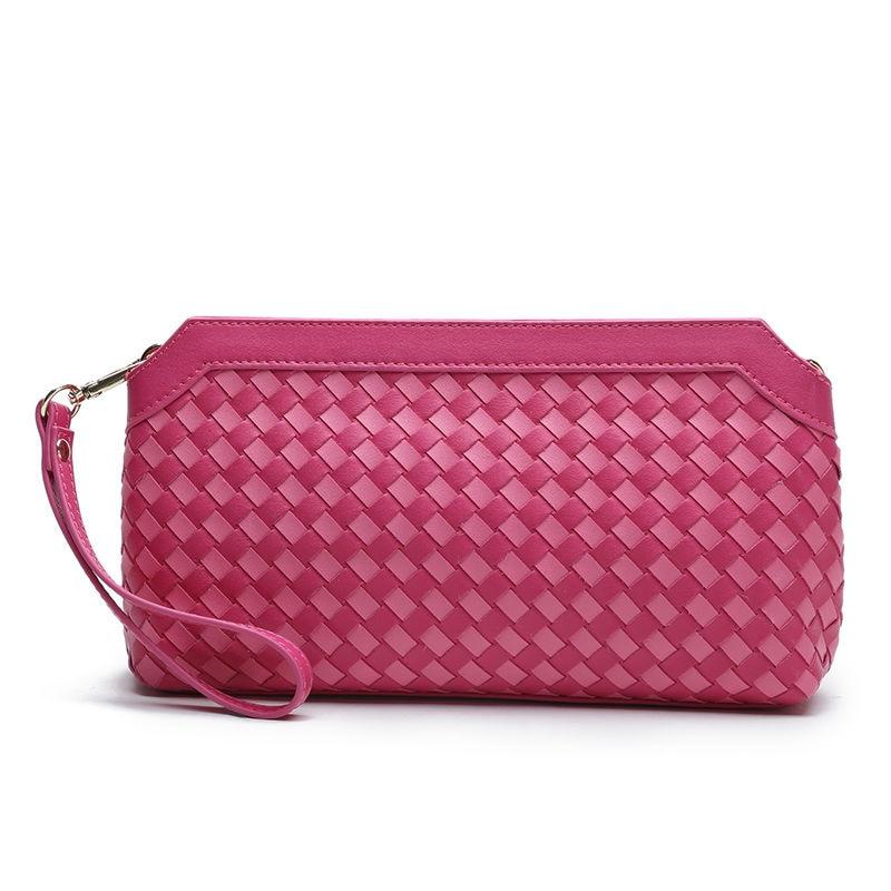 2017 hot Genuine Leather women Mini messenger bags evening clutch bags Casual Flap Shoulder bags Clutch Wallet Purse weave sost