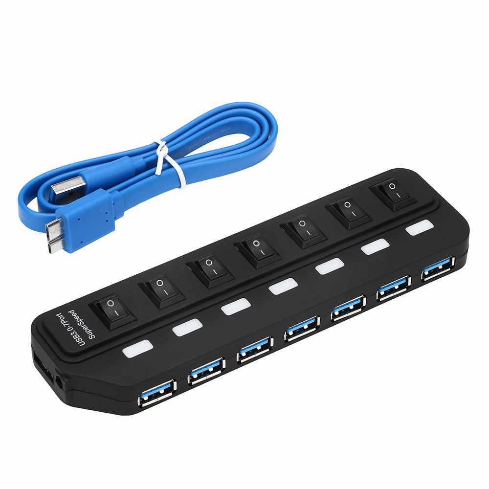 CARPRIE USB 3 محور 3.0 4/7 منافذ مع شحن الطاقة و التبديل متعددة USB الخائن بورتا لوحة ل محمول جهاز كمبيوتر شخصي #4 2