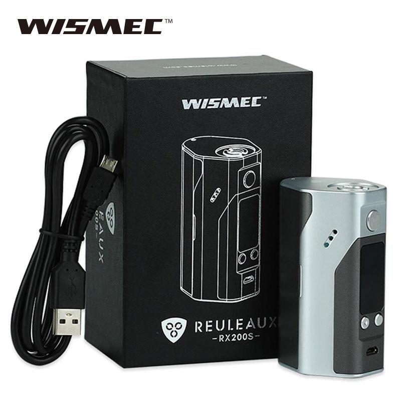 Prix pour 100% D'origine Wismec Reuleaux RX200S TC 200 W Écran OLED Boîte Mod avec Extensible Firmware Reuleaux RX200 S pour Théorème atomiseur