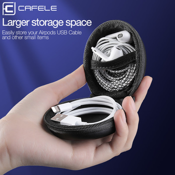 Cafele Earphone Wire Data Line Cables Storage Box Organizer Mini Portable Plastic Earphone Bag Case Container Coin Box