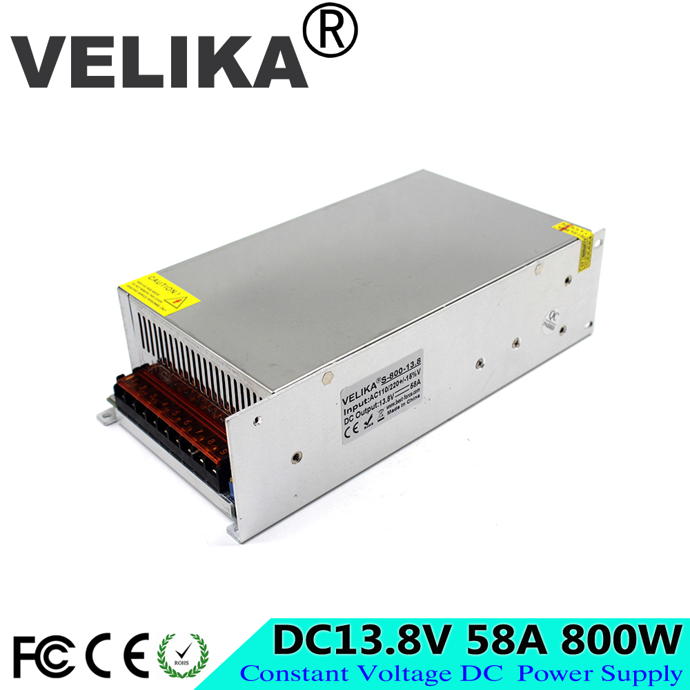 DC Power Supply 13 8V Voltage Transformer 58A 800W Switching Switch Power Adapter Driver For Led