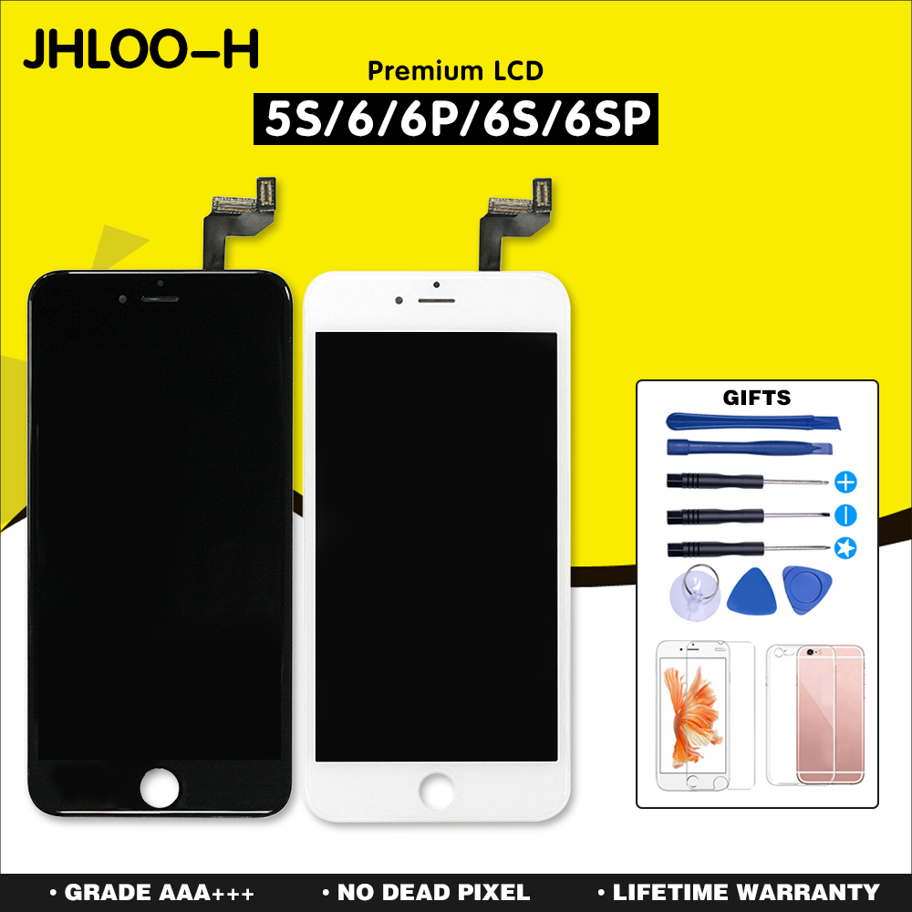 Grade AAA+++ For iPhone 6 6S Plus LCD Display With Touch Screen Digitizer Assembly For iPhone 5S Display +Tempered Glass+Tools image