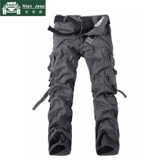 2018 Brand Mens Cargo Pants Army Military Cotton Pants pockets Baggy Mens Pants Sweatpants track pants pantalon homme Size 40 42 2