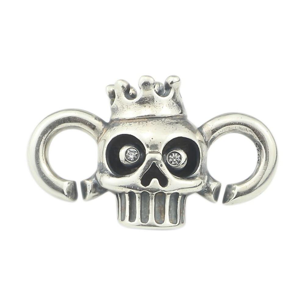 X bouton série-Skulls fermoir authentique 925 argent Sterling fermoir charmes Fit marque européenne Bracelet fabrication de bijoux à bricoler soi-même