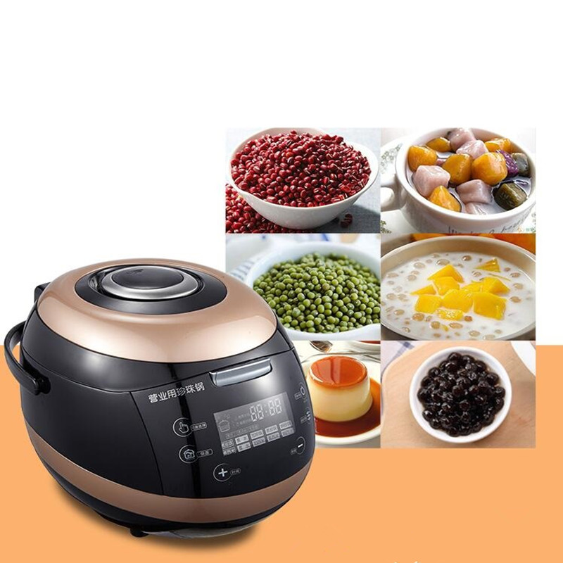 220V Commercial 5L Electric Bubble Cooking Machine Automatic Red Bean Sago Pudding Making Machine For Bubble Tea Shop portable automatic electric bubble machine toys for kids