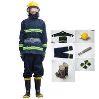 Пожаротушения костюм противопожарные огнестойкий Защитная одежда миниатюрный пожарная станция полный набор боевого костюмы безопасности