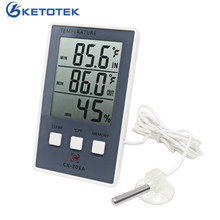 Digital Thermometer Hygrometer Indoor Outdoor Suhu Kelembaban Meter C/F LCD Display Sensor Probe Stasiun Cuaca(China)