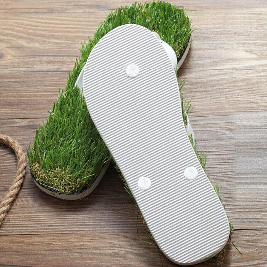 31b555ede0a 2017 New Men Imitation Grass Flip Flops For Men Summer Beach Flip Flops  Flat Shoe Out Sandals Slipper Women Sandals BF22-in Slippers from Shoes on  ...