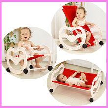 2 In 1 Folding Baby Rocking Chair Newborn Comfort Sleeping Cradle Rocking Horse Swing Chair Bouncer Lounge Infant Swing Cot Crib