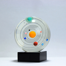 Fengshui Ball Solar System Planet Crystal Ball Glass Sphere Planet Home Decoration