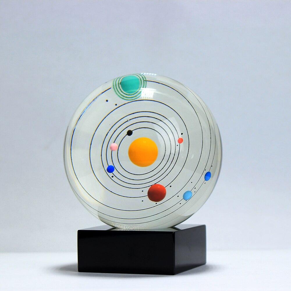 Fengshui balle système solaire planète boule de cristal sphère de verre planète décoration de la maison