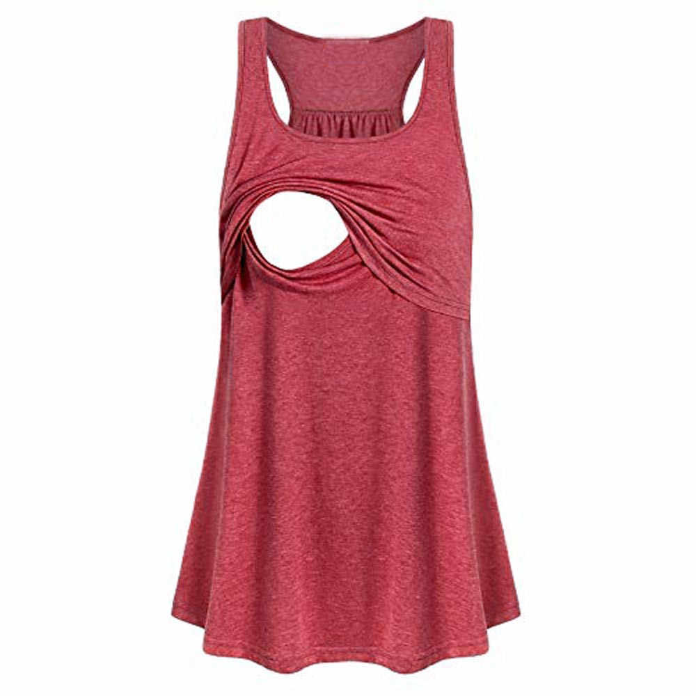 Maternity Clothes Loose Comfy Pull-up Tank Vest Maternity Tops/T-shirt Breastfeeding shirt Nursing Tops for pregnant women
