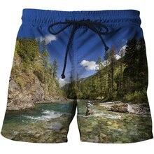 3d Fish быстросохнущая летние Для мужчин s пляжные плавки Для мужчин пляжные шорты для серфинга шорты Плавки-трусы для Для мужчин Плавание Мужские Шорты для купания Плавание шорты пляжная одежда Азиатский размер S-6XL