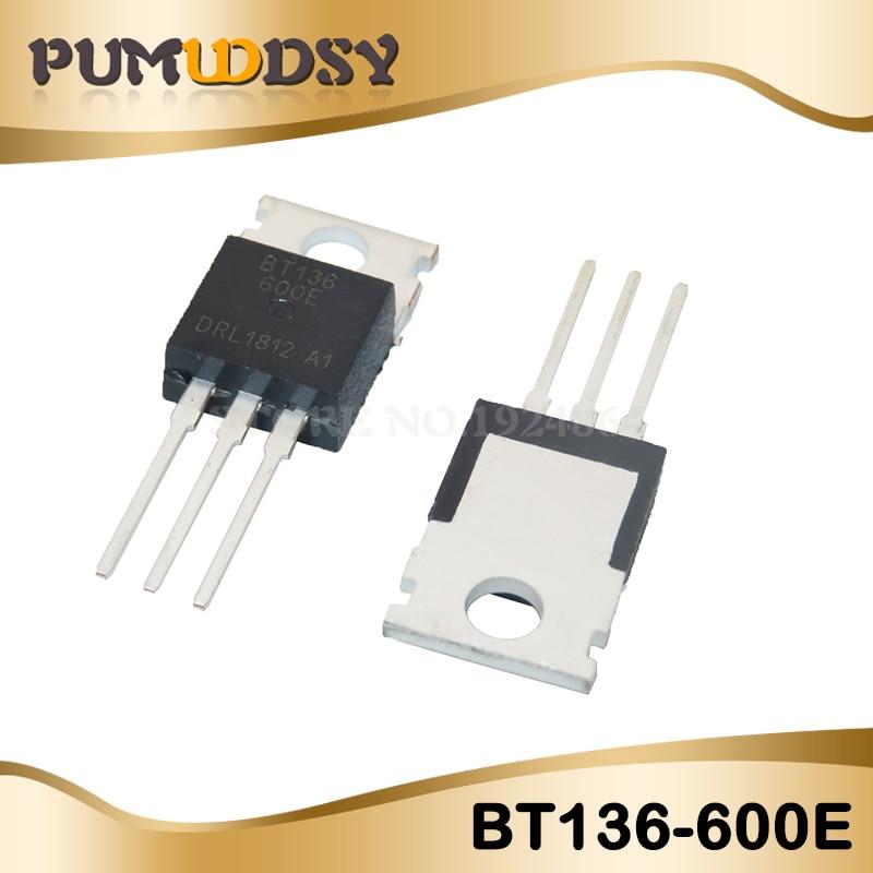 10pcs/lot New BT136-600 BT136-600E TO-220 Triac 600V 4A BT136 IC