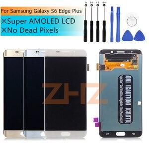 """Image 2 - ЖК дисплей для Samsung Galaxy S6 Edge Plus G928 G928F, сенсорный экран в сборе, сменные детали для 5,7 """"SAMSUNG S6 Edge Plus, ЖК дисплей"""