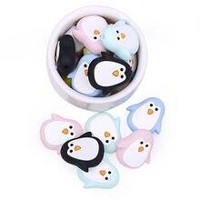 50 шт силиконовые бусины Прорезыватели в виде пингвина