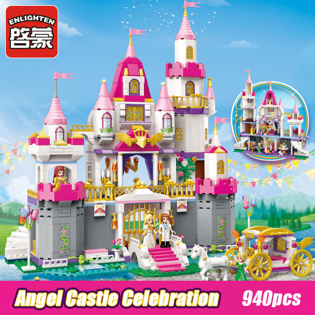 2612 940pcs Girl's Dream Town Constructor Model Kit Blocks Compatible LEGO Bricks Toys for Boys Girls Children Modeling
