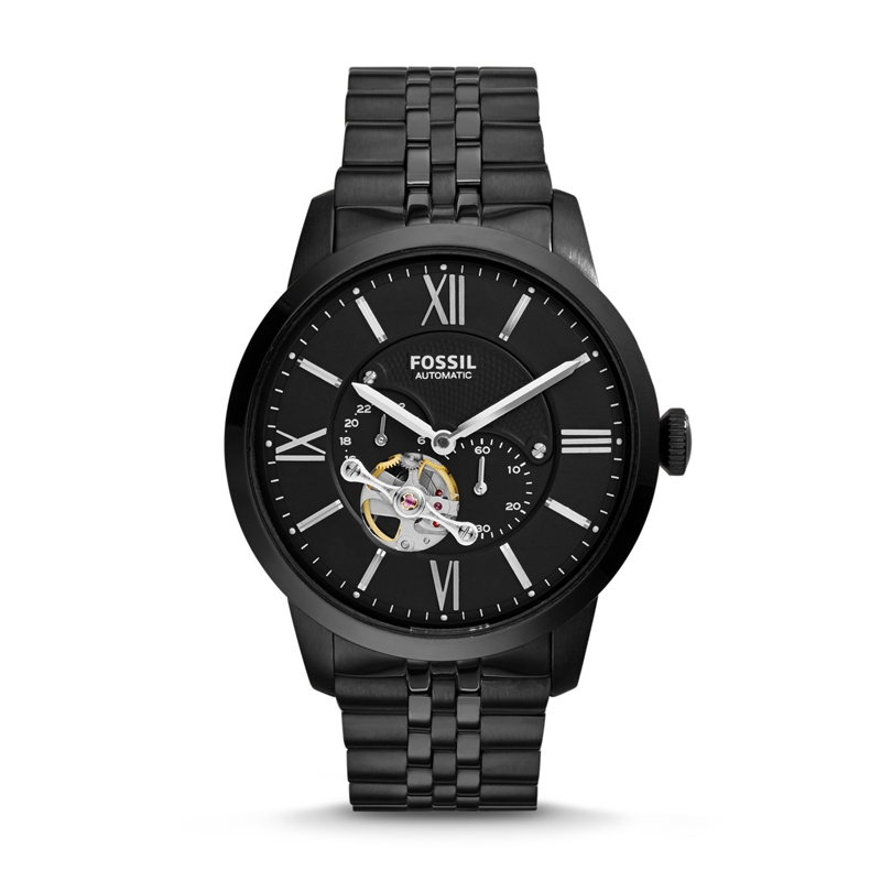 FOSSIL Townsman Men Watch Automatic Stainless Steel Watch - Black ME3062