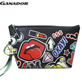 Ganador free shipping fashion women cosmetic cases travel handbags large capacity wash bags make up cosmetic case LS7336