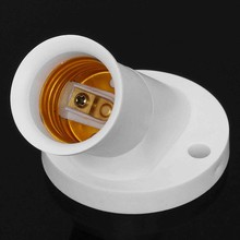 1pcs E27 45 Degree Angle Oblique Screw Socket Light Bulb Base Wall Lamp Holders Adapter Converter AC 250V 4A(China)