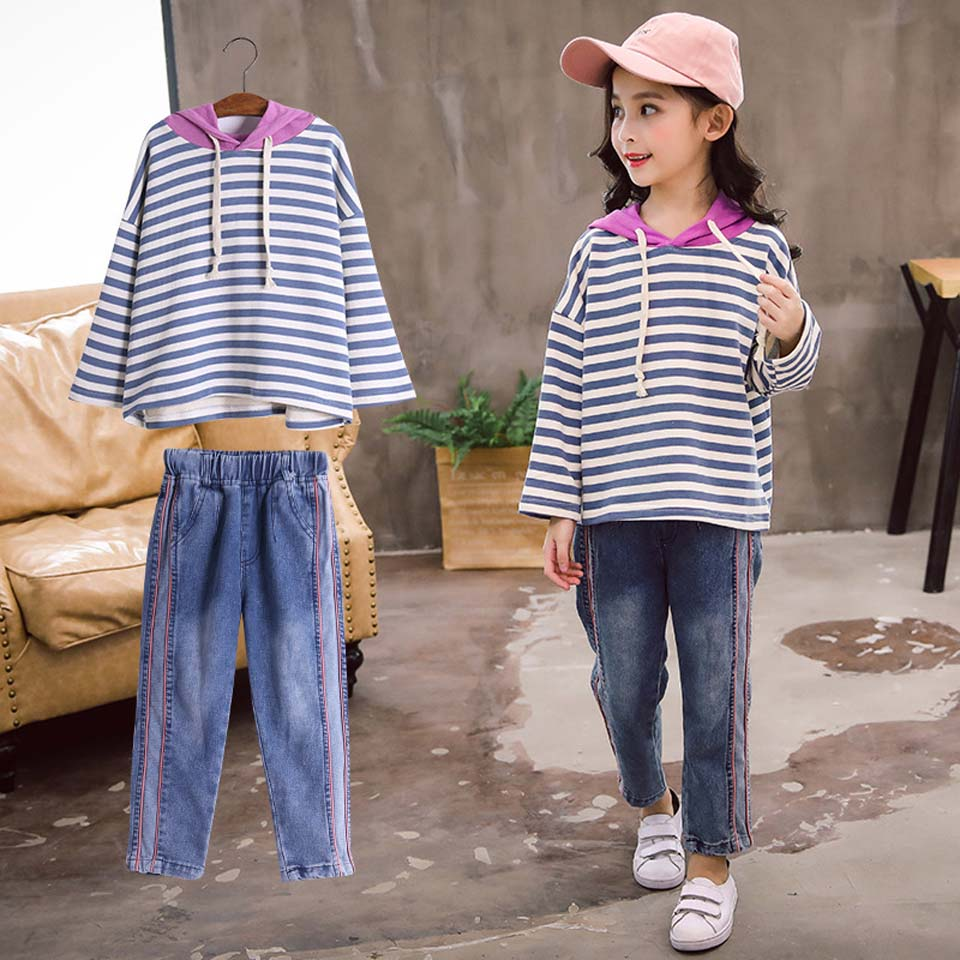 Kids Clothing Girls Set Active Children Clothing Sets Stripe Autumn Clothes Striped Pants + Blouse Long Sleeve Girls ClothesKids Clothing Girls Set Active Children Clothing Sets Stripe Autumn Clothes Striped Pants + Blouse Long Sleeve Girls Clothes