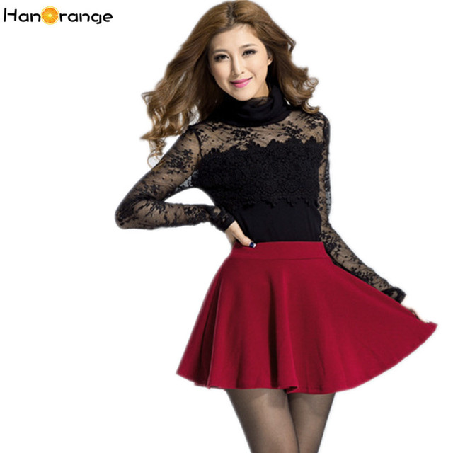 HanOrange Preppy High Waist Pleated Candy Color Skirt Ball Gown Umbrella  Skirt White Red Black wine Red Blue Navy Blue Yellow be33e6694