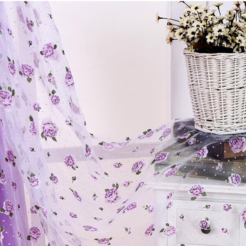 flower window curtains promotion-shop for promotional flower