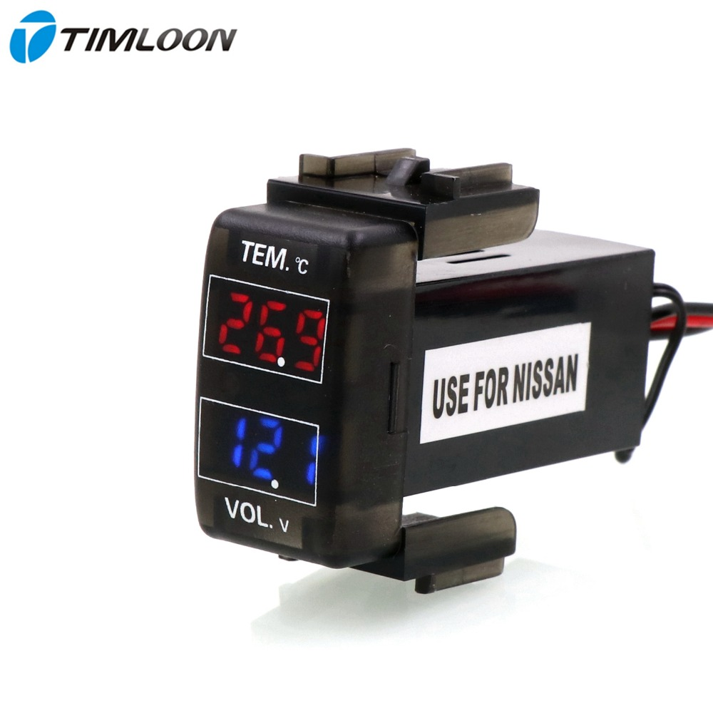 Car Battery Voltage Meter : Car interface v digital lcd voltage meter battery