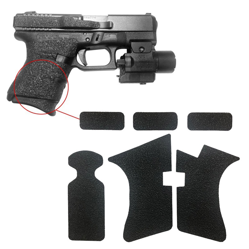 Non-slip Rubber Texture Grip Wrap Tape Glove for <font><b>Glock</b></font> 17 19 20 21 22 25 26 27 33 43 holster <font><b>9mm</b></font> pistol <font><b>gun</b></font> magazine image