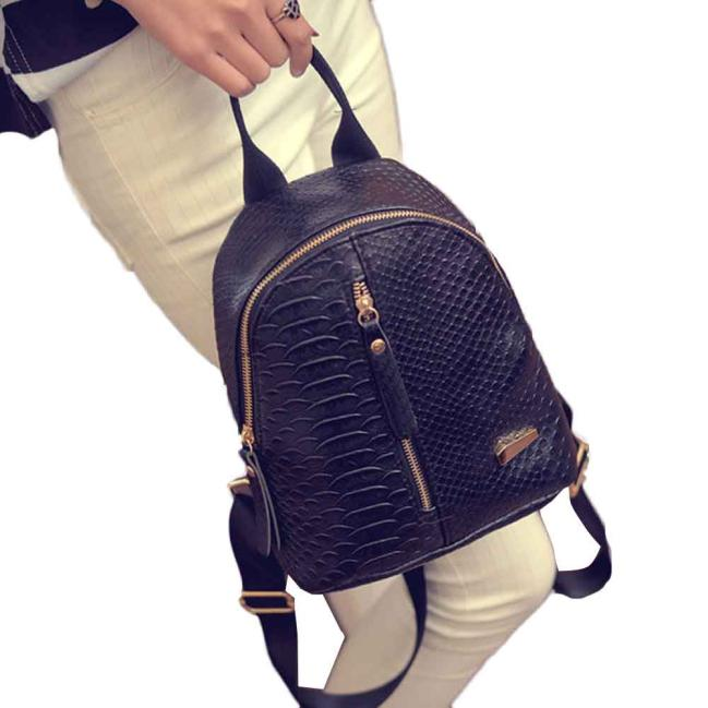 Black Classic Backpack Leather Backpack Large Capacity Backpacks Shoulder Backpacks Drop Shipper Daypack School Rucksack Bag#21