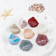 Headwear shell Claw Shiny Acrylic Hair Claws Clip Crab Amoeba Hairpin For Women Accessories Ornaments