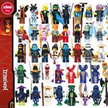 Ниндзя мини-ниндзяго фигуры Строительные блоки Кай Джей Зейн Коул Ллойд Кармадон Мастер Ву Мотоцикл, совместимый с LegoINGly Toys