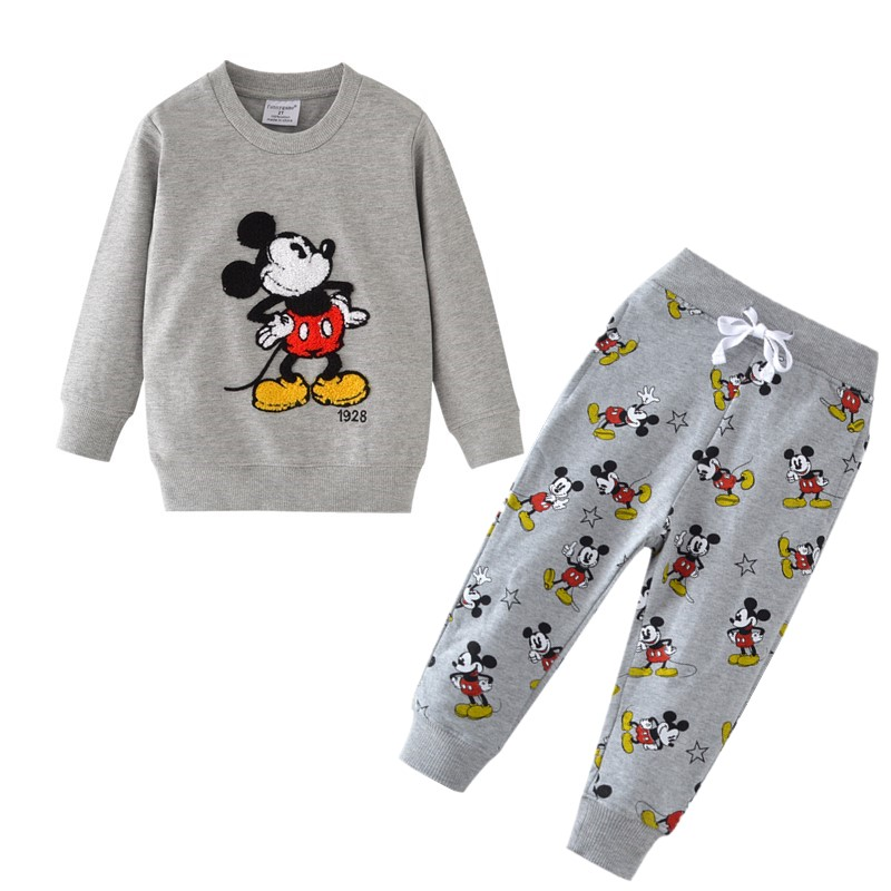 Baby Boys Cartoon Clothing Sets Children Winter Clothes Cute Printed Warm Sweetsets For Baby Boy Girls Kids Clothes
