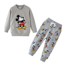 Baby Boys Cartoon Clothing Sets Children Winter Clothes Cute Printed Warm Sweetsets for Baby Boy Girls Kids Clothes 2018 autumn winter baby boy clothes girls bear owl pattern kids cartoon sweaters boys clothing girls clothing thick warm
