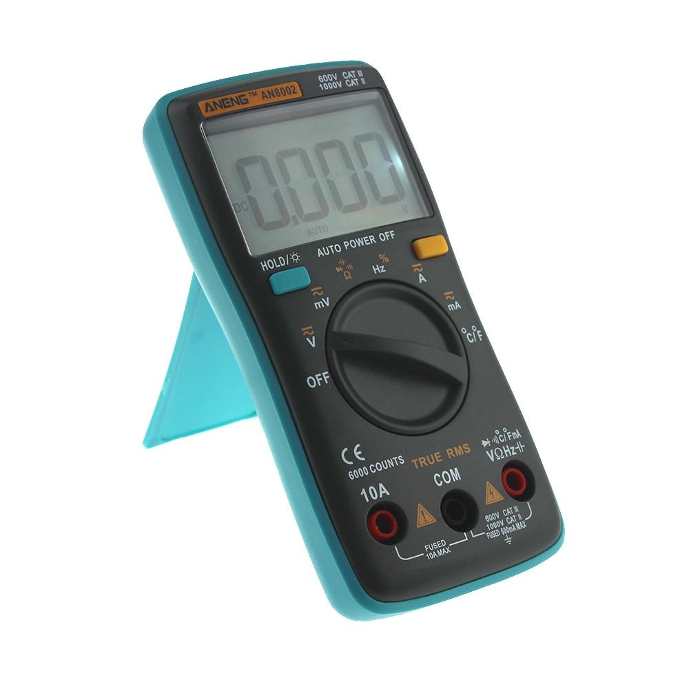 ANENG AN8002 Digital Multimeter 6000 counts Backlight AC/DC Ammeter ...