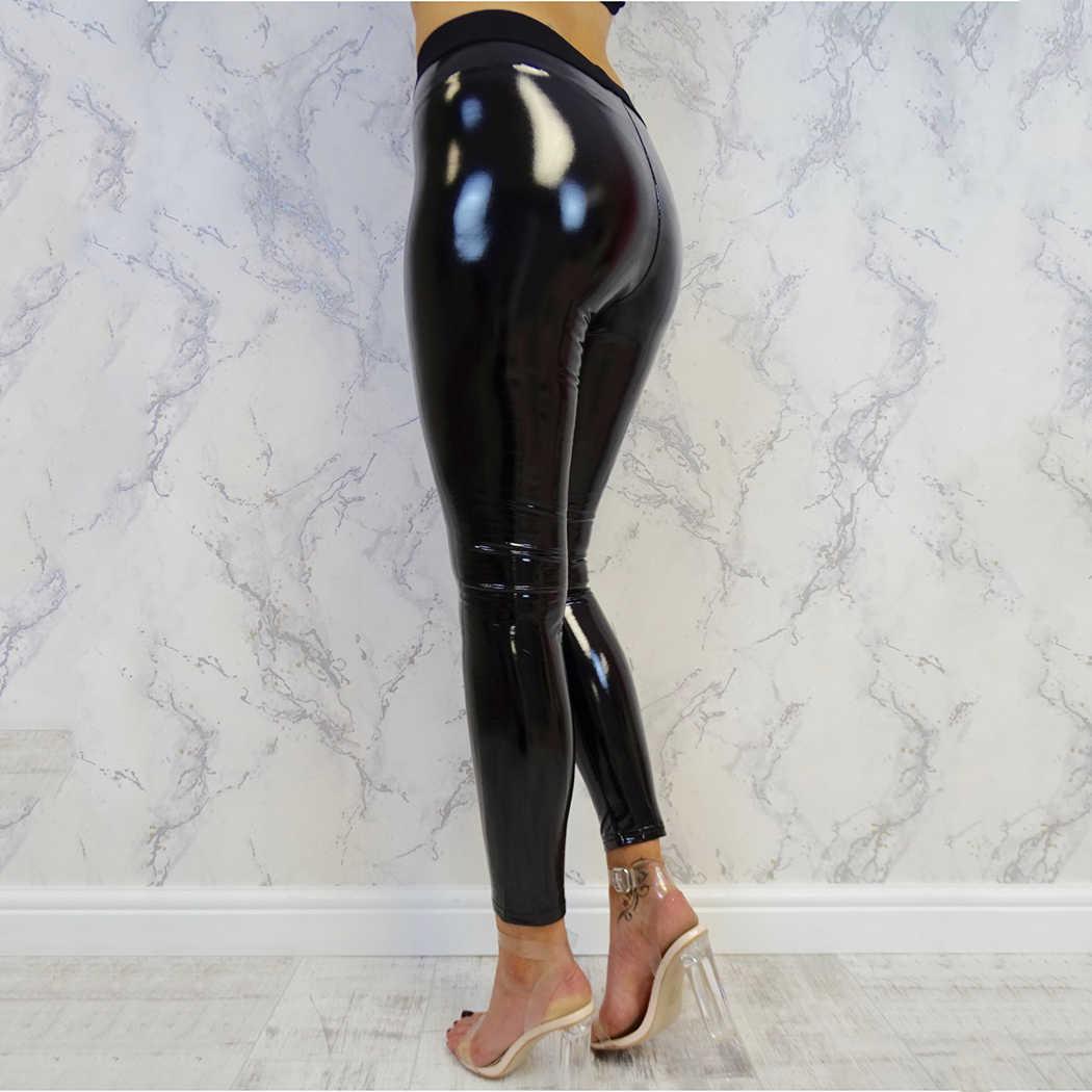 887de1f70bdbd ... Slim Sexy Fancy Women Black PU Leather Legging Pants Warm Leggings Push  Up Leggings Pencil Skinny ...