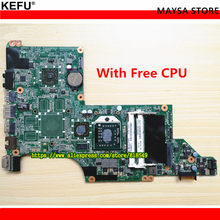 595135-001 Laptop motherboard for hp Pavilion DV6-3000DV6Z-3200 NOTEBOOK DA0LX8MB6D1 REV:D 100% TESTED, with free CPU(China)