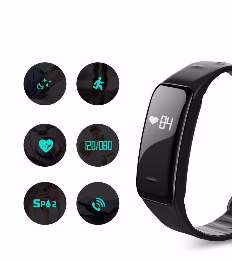 Z-suit Health Sport Wristband Oxygen Blood Pressure Heart Rate monitor Smart Bracelet Fitness Tracker Smart Band for IOS Android 7