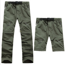 New Mens Removable Quick Dry Sport Hiking Outdoor Pants Men Trekking Fishing Camping Thousers Summer Breathable Climbing Shorts