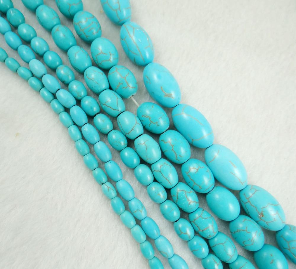 Schmuck & Zubehör KüHn Natürliche Stein Oval Türkisen Verkrustete Perlen Diy Perlen Für Armband Halskette Schmuck Machen Großhandel T5 Perlen