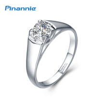 Pinannie Rhodium Plated 18KRGP Engagement Rings Jewelry for Women(China)