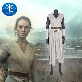 Manluyunxiao Rey Costume Star Wars 9 The Rise of Skywalker Cosplay  Halloween Adult Superhero Jedi Outfit dress