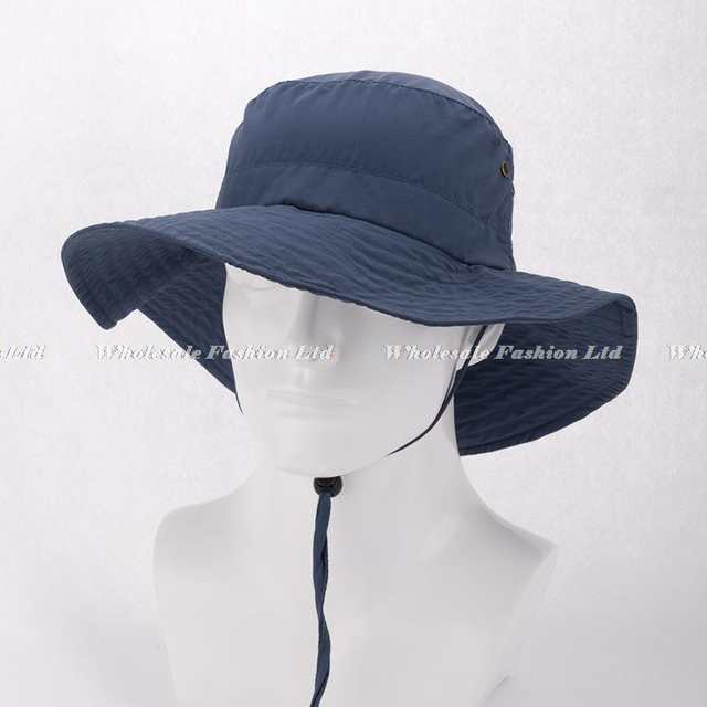 Wholesale Mens Blank Bucket Hats with String Best Men Brimmed Bucket Hat  For Summer Sport Caps 3a952e55c27